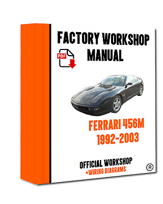 official workshop manual service repair ferrari 456m 1992 - 2003  >>
