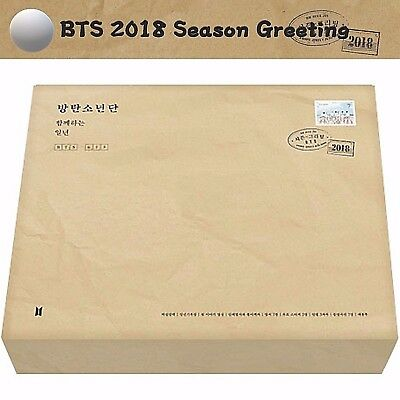 [BTS] 2018 Season Greeting Sealed New Official DVD+Photocard+Calendar Photo 방탄