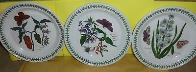 Portmeirion  Pottery 3  Side/salad Plates  'the Botanic Garden'
