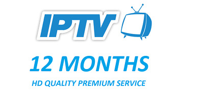IPTV 12 Month HD subscription* Lg Samsung Smart TV Magbox Zgemma Openbox Android