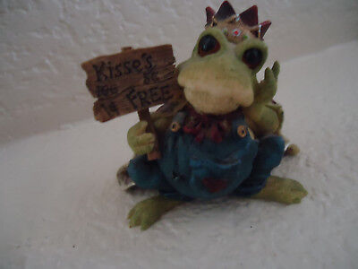 Kiss The Ugly Frog Wearing a Crown Prince Charming Figurine Boyd's Bears and Fri