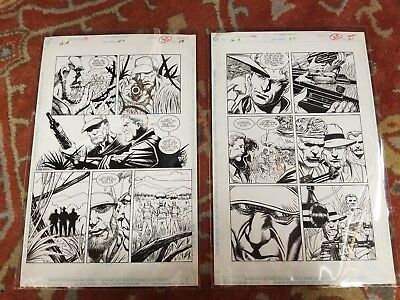 Green Arrow #47 2 pages of Original Art