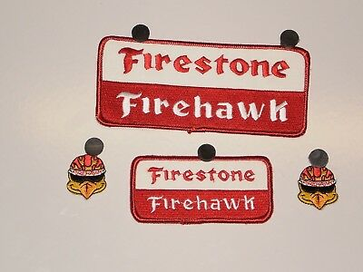 4 Firestone Tire Firehawk Patches NOS