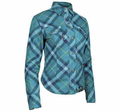 Speed & Strength Cross My Heart Womens Long Sleeve Moto Shirt Teal