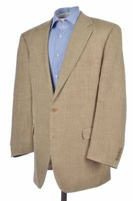 BROOKS BROTHERS Beige Herringbone SILK LINEN WOOL Blazer Sport Coat Jacket 44 L