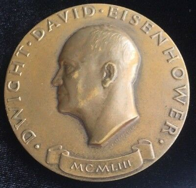 1953 Dwight Eisenhower Inauguration Medal Bronze