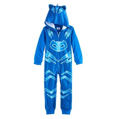 NWT PJ Masks Catboy Boy Girl Costume Hoodie Union Suit One Piece Pajamas 4 6 8