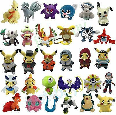 2017 Pokemon GO XY Sun/Moon Plush Character Soft Toy Stuffed Animal Doll Teddy