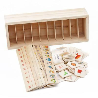 Wood Montessori Educational Toy for Kids Preschool Early Learning Teaching JJ