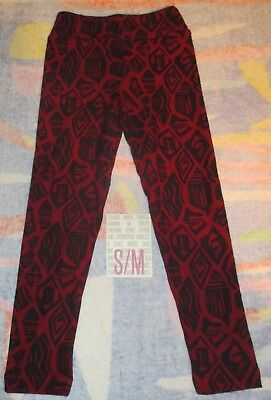 NEW IN PACK Lularoe Kids S/M Leggings DARK MAROON & DARK PURPLE Patterns