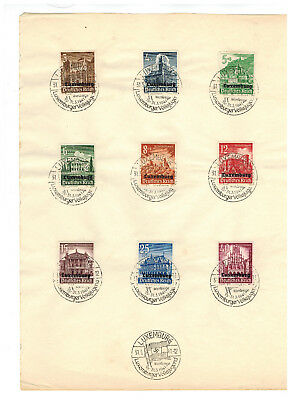 1941 Luxembourg Occupation Stamps on Sheet Volks Jugend Cancel