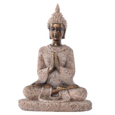 Sandstone Meditation Buddha Statue Hand-carved Wealth Indian Luck Hindu