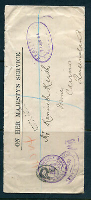 Western Australia 1898 Registered Ohms Cover To Cairns,qld