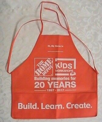 The Home Depot Kids Workshop Apron Build Learn Create Building Memories 20 Years