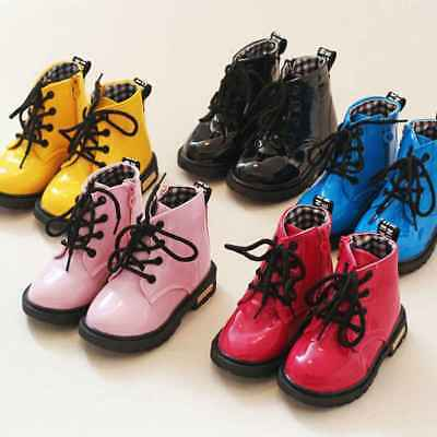 Baby Toddler Kids Boys Girls Winter Warm Sports Martin Ankle Boots Snow Shoes