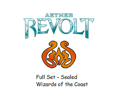 Aether Revolt Complete Set - Magic the Gathering Sealed Complete Set Wizards Aus