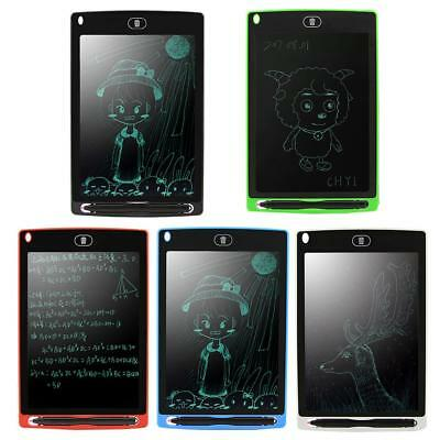 "8.5"" Digital LCD Writing Pad Tablet Kids Graphics Drawing Notepad Board w/ Pen"