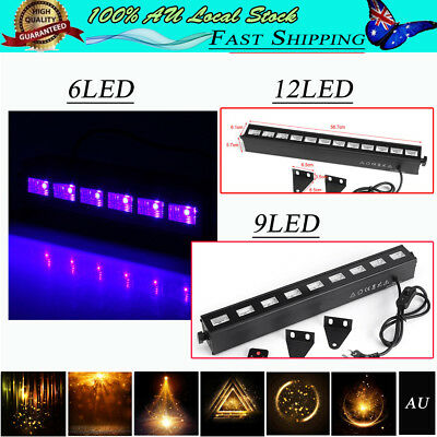 6/9/12LED UV Stage Light Wall Washer Lamp Light Disco DJ KTV Club 18/27/36W AU