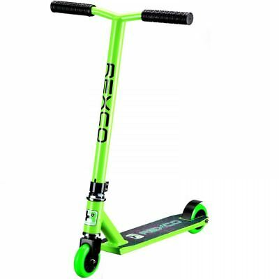 Rexco Green Pro Stunt Scooter Street Jump Push Trick Childrens Abec-7 Bearings