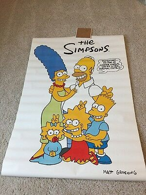 The Simpsons - Vintage Poster 1990 - Family - New Old Stock