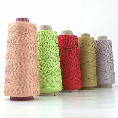 Dyed Pure Linen Yarn, Strong Weaving Warp,Knitting Crochet Thread 3ply 4ply 200g