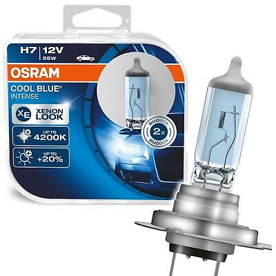 OSRAM H7 COOL BLUE INTENSE XENON LOOK 12V 55W 1x Duo Box Glühbirnen 64210CBI