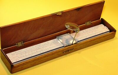 Great slide rule with a magnifying glass
