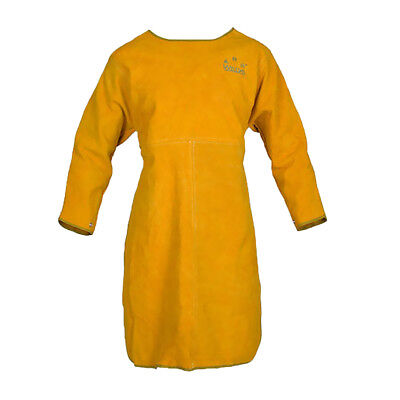 Long Welding Jacket Coat Apron Protective Clothing Apparel for Welder Yellow