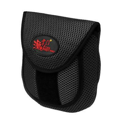 Mesh Cloth Fly Fishing Reel Storage Bag Protective Cover Case Pouch Black