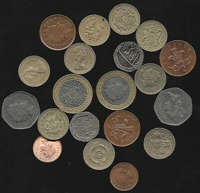 Over Fourteen English Pounds (£14.48) Coins British Pound England Britain Misc