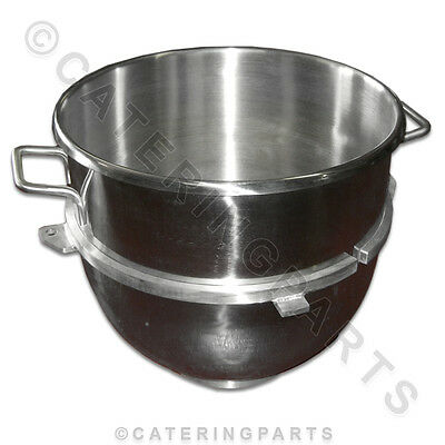 60 Quart Large Stainless Steel Mixing Bowl Fits Hobart Heavy Duty 60Qt Mixers