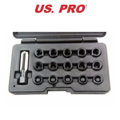 US PRO 16pc SPARK PLUG THREAD REPAIR KIT M14 X 1.25  5856