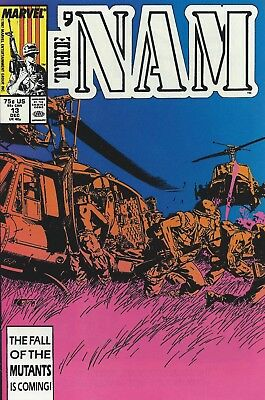 Marvel's The Nam  -  Vol 1, No. 13, December, 1987 - With Protective Sleeve