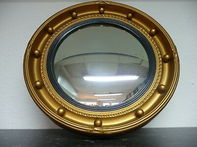 A Fine & Large Antique Early c20th Butler's Convex Mirror