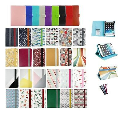 Universal Wallet Case Cover Folio  Fits Logicom M Bot Tab 103 Tablet PC 10.1 In