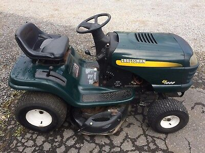 SEARS CRAFTSMAN LT1000 Riding Tractor - Lawn Mower - 17 5 HP - LOCAL PICKUP  ONLY