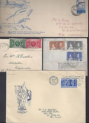 UK GB BRITISH COMM LARGE 1940s 50s COLLECTION OF 17 COVER S AFRICA JAMAICA INDIA