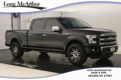 2016 Ford F-150 PLATINUM 4WD SUPERCREW CAB 4X4 5.0 V8 LONG BED NAV 701A PACKAGE LOCAL TRADE ONE OWNER LONG BED CREW PLATINUM BRUNELLO LEATHER LIFTED