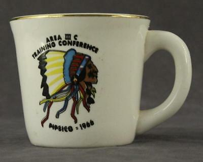 Vintage China BOY SCOUT Coffee Mug AREA III C Training Conference PIPSICO 1966
