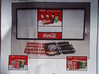 New! 4ft Coca-Cola Menu Board w/6 sets of letters & numbers