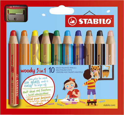 STABILO Multitalentstift woody 3 in 1, 10er Karton-Etui