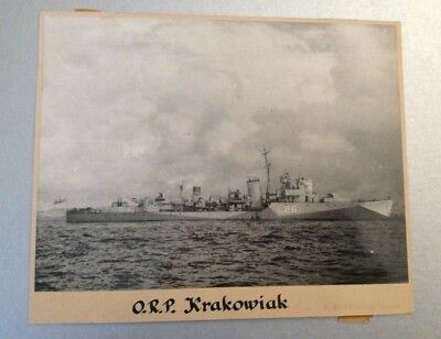 Original Polish WWII 1940 Official Photograph of ORP KRAKOWIAK / Poland