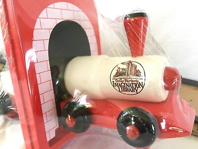 Dolly Parton's Imagination Library Train Bookends, brand new