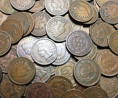 Half Roll Of Indian Head Cents - 25 Pennies - Estate Lot 1859 - 1909
