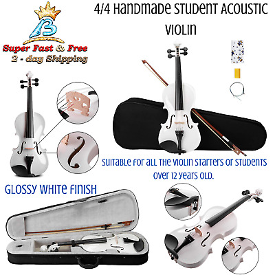 Student Acoustic Violin Beginner Pack With Bow And Hard Case 4/4 Handmade NEW