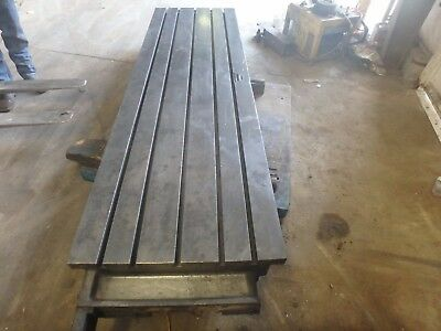 "109"" x 30""x 8.5"" Steel Welding T-Slot Table Cast Iron Layout Plate Fixture"