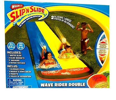 Slip 'n' Slide Mega Double Slides Deluxe Backyard Water Racer 6.1m Slide