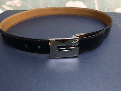 59e4762fc1b ... Burgundy Leather Belt Size 29 - 32 Made in Italy.
