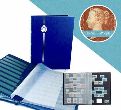 *NEW** ⭐️ BLUE STAMP STOCKBOOK ALBUM - A4 (8 Pages/ 16 Sides)  ~BLACK PAGES