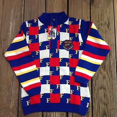 Vtg Tabby By N K Goel Blue Red Sweater 32 Kids Collection Vintage 1990s 90s NWT